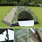 1 2 3 4 Person Instant Pop-Up Camping Tent Family Hiking Camouflage Waterproof