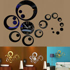 Modern DIY Large Wall Clock 3D Mirror Surface Sticker Decal Home Room Art Decor