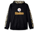 Zubaz Men's NFL Pittsburgh Steelers Pullover Hoodie With Zebra Accents $39.99 USD on eBay