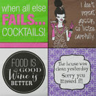 100 Beverage Napkins 3-Ply Square Paper Cocktail Wine Party Funny Print Women