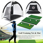 Golf Hitting Cage Practice Net Trainer With Training Mat +2 Balls +Tee ❤