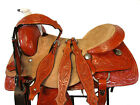 WORKING RANCH ROPING SADDLE WESTERN HORSE TRAIL FLORAL TOOLED LEATHER 15 16 SET