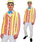 20s Barber Shop Mary Poppins Mens Fancy Dress 1920s Boater Jacket Adults Costume