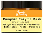 *Pumpkin Enzyme Peel with 30% 15% 12% 5% Glycolic Acid, AHA Facial Mask
