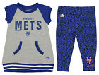 Majestic MLB Girls Infant New York Mets Cheer Loud Legging Set, Blue/Grey on Ebay