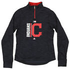 Majestic MLB Girls Youth Cleveland Indians AC Team Icon 1/4 Zip Fleece Sweater on Ebay