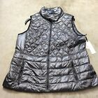 womens calvin klein quilted puffy vest jacket coat plus sizes 08-19