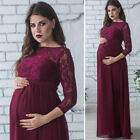 US Women Maternity Pregnancy Lace Gown Photography Long Maxi Dress Photo Shoot