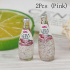 2/5Pcs 1:12 Dollhouse Miniature Fruit Drink Bottle Doll House Accessories Toy UK