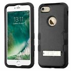 iPhone 7/7 Plus Rubber IMPACT TUFF HYBRID KICKSTAND Case Phone Cover