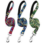 Dog Walking Leads Leash with Padded Handle for Medium Large Dogs Blue Green Pink