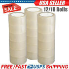 12/18 Rolls 2-inch Width Carton Tape Sealing Clear Packing Box Packing Stationer