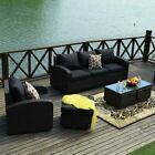 Rattan Garden Furniture Set 1/2/4/5 Piece Chairs Sofa Table Outdoor Patio Wicker