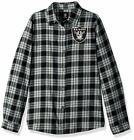 Forever Collectibles NFL Women's Oakland Raiders Check Flannel Shirt $34.99 USD on eBay