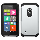 For Nokia Lumia 530 Hybrid IMPACT Hard TUFF Hybrid Case Phone Cover