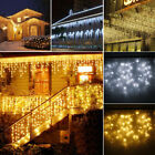 96-960 LED 3M-30M Hanging Icicle Snow Curtain Outdoor Indoor Decor String Lights