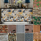 Uk 3d Wall Paper Brick Stone Rustic Effect Self-adhesive Wall Sticker Home Decor