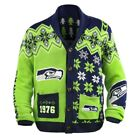 KLEW NFL Men's Seattle Seahawks Holiday Ugly Cardigan Sweater $49.99 USD on eBay