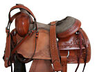 ROPING RANCH RODEO WESTERN SADDLE 16 15 PLEASURE FLORAL TOOLED LEATHER TACK SET