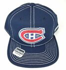 Men's Reebok NHL Montreal Canadiens Hat Cap Large Logo Boxy Snapback, OSFM, Navy $12.49 USD on eBay
