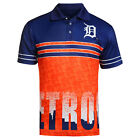 FOCO MLB Men's Detroit Tigers Raglan Skyline Polo on Ebay
