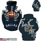 US STOCK Dallas Cowboys Sport Hoodie Sweatshirt Jumper Jacket Hooded Coat Tops $18.99 USD on eBay