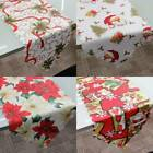 Christmas Flower Embroiderd Table Runner Party Wedding Tablecloth Banquet Decor