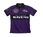 FOCO NFL Men's Baltimore Ravens Wordmark Rugby Short Sleeve Polo Shirt $29.99 USD on eBay