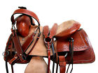 RANCH WESTERN ROPING SADDLE CUSTOM LEATHER 17 15 16 TOOLED LEATHER PLEASURE SET