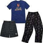 MLB Youth New York Mets T-shirt Boxer & Pant 3 Piece Sleep Set on Ebay