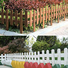 Wooden Garden Park Wicket Fence Panels Lawn Border Edge Edging Fencing Decorate
