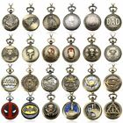Famous Retro Steampunk Men Pocket Watch Quartz Necklace  Watch Chain Gift image