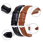 Soft Genuine Leather Quick Release Wrist Watch Band Strap Sport 12-24 mm image