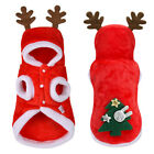 Small Dog Christmas Costumes Xmas Outfit Pet Clothes Cat Coats Hoodie Jacket Red