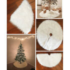 Clot Luxury Faux Fur Christmas Tree Skirt 48-New Year White Decoration For Home