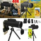 Monocular 40X60 Zoom Optical HD Lens Telescope Clip On Tripod Kit For Cell Phone