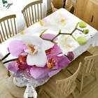 3d Flower Tablecloth Rectangle Waterproof Table Runner Cloth Cover Dining Decor