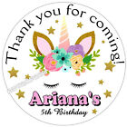 UNICORN BIRTHDAY PARTY FAVORS STICKERS LABELS TAGS for your party favors