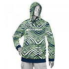 Zubaz NFL Football Men's Seattle Seahawks Zebra Print Touchdown Hoodie $39.99 USD on eBay