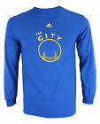 Adidas NBA Mens Golden State Warriors The City Graphic Long Sleeve Tee, Blue on eBay
