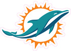 Miami Dolphins NFL Football Color Logo Sports Decal Sticker - Free Shipping $1.49 USD on eBay