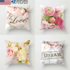 US STOCK Home Decorative Polyester Throw Pillow Case Sofa Waist Cushion Cover image