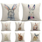 45x45cm Decorative Bedroom Pillow Case Digital Printed Easter Bunny Sofa Square