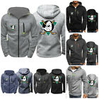 Anaheim Ducks Fans Hoodie Zipper Jacket Hooded Sweatshirt Warm Sport Coat Tops $14.24 USD on eBay