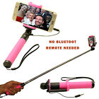 MONOPOD SELFIE STICK WIRED FOR APPLE IPHONES ANDRIOD PHONES AND LG