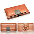 Designer PU Leather Belt Pouch with 2 Loop and Clip Case Strong Magnet Closer