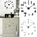 Modern DIY Large Wall Clock 3D Mirror Surface Sticker Big Number Watch Decor