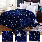 Stars Blanket Soft Heavy Weight Thick Plush Flannel Winter Warm Autumn Twin Gift image