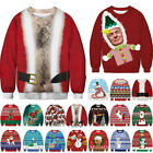 Christmas Ugly Sweater Sweatshirt Men Women Xmas Funny Pullover Coat Jumper Tops