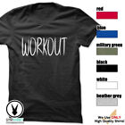 WORKOUT Gym Rabbit T-Shirt Workout Gym Fitness Weightlifting Motivation E205 image